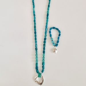 NWOT Chico's Turquoise Bead Necklace